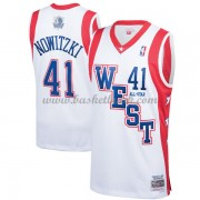 Dallas Mavericks Dirk Nowitzki 41# Vit 2004 All Star Hardwood Classics NBA Basketlinne..